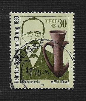 German DDR Used Scott #2847 Catalog Value $.35