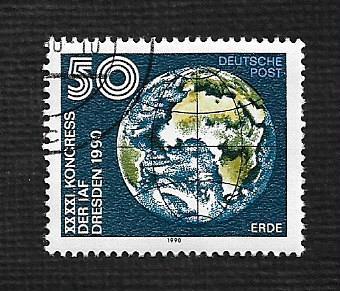 German DDR Used Scott #2850 Catalog Value $.40