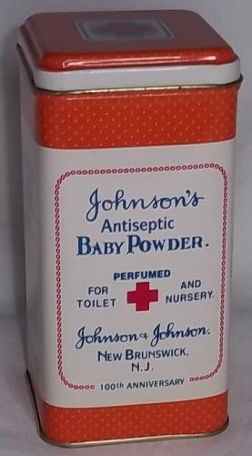 Vintage Johnson & Johnson Baby Powder Metal Tin