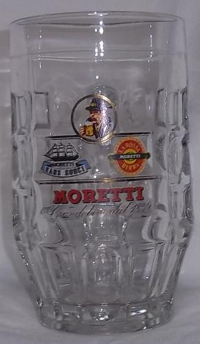 Rare Collectible Birra Moretti Grandbiere glass