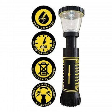 hydra light 2 in 1 flashlight & lantern.. runs on water no batteries needed