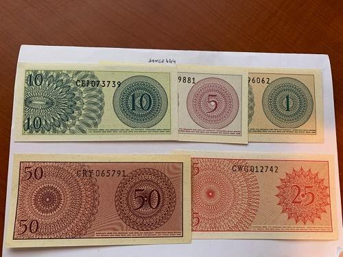 Indonesia lot of 5 uncirc. banknotes 1964