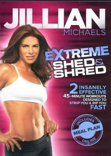 jillian michaels.. extreme shed & shred workout dvd