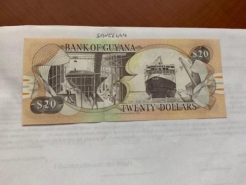 Guyana 20 dollars uncirc. banknote 1982 #1