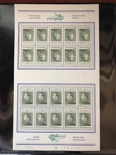 Belgium Belgica72 m/s mnh 1972 stamps