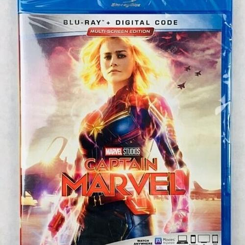 captain marvel... blu-ray + digital code