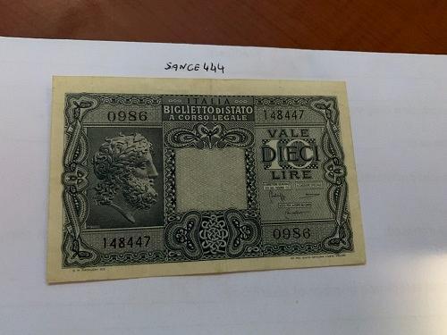 Italy 10 lire Giove uncirc. banknote 1935 #2