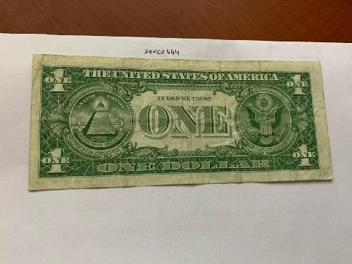 United States Washington circulated blue banknote 1957 #43