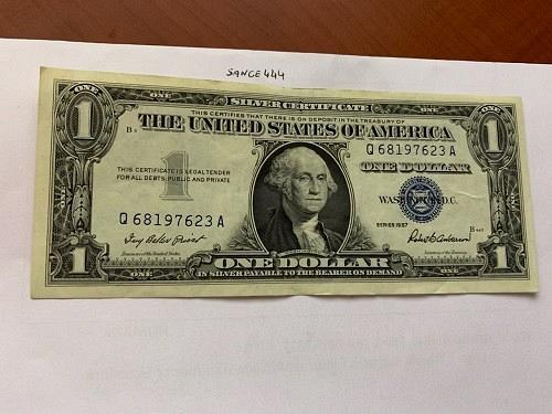 United States Washington circulated blue banknote 1957 #44