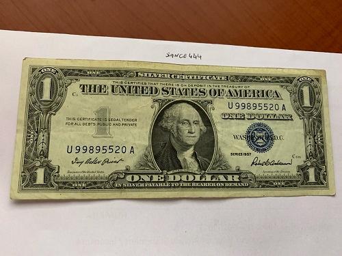 United States Washington circulated blue banknote 1957 #47