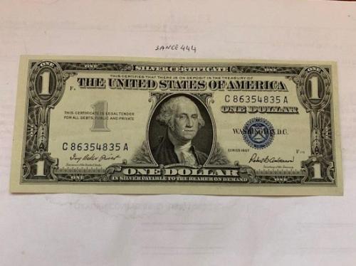 United States Washington uncirc. blue banknote 1957 #2