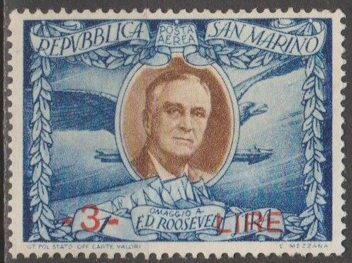 [SM257G] San Marino Sc. no. 257G (1947) MNG