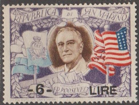 [SM257I] San Marino Sc. no. 257I (1947) MNG