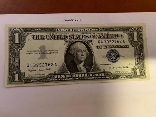 United States Washington circulated blue banknote 1957 A #49