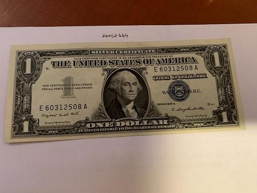 United States Washington circulated blue banknote 1957 A #53