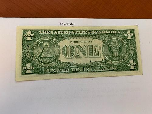 United States Washington circulated blue banknote 1957 B #54