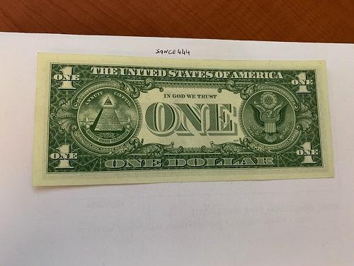 United States Washington circulated blue banknote 1957 B #55