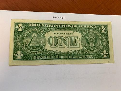 United States Washington circulated blue banknote 1957 A #57