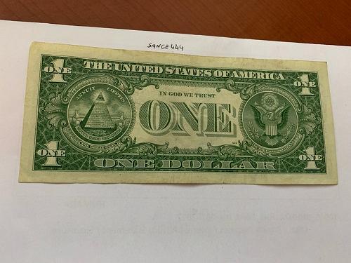 United States Washington circulated blue banknote 1957 B #63