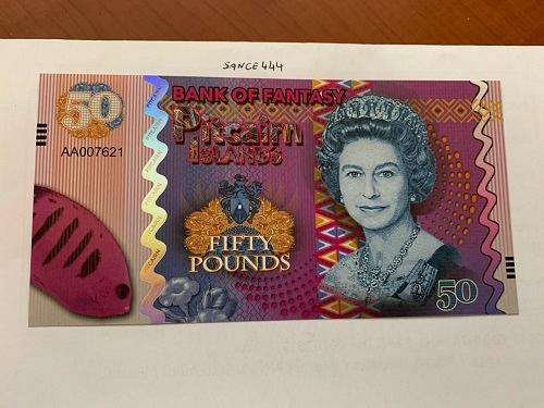 Pitcairn Islands 50 pounds uncirc. banknote 2018 #1