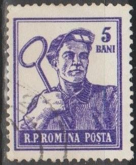 [RO1025] Romania: Sc. no. 1025 (1955-1956) Used