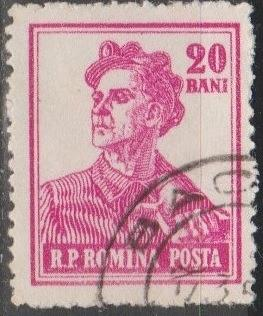 [RO1027] Romania: Sc. no. 1027 (1955-1956) Used