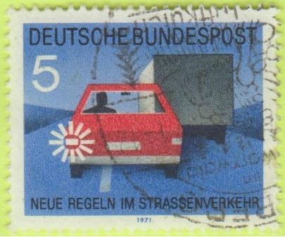[GE1055] Germany: Sc. no. 1055 (1971) Used