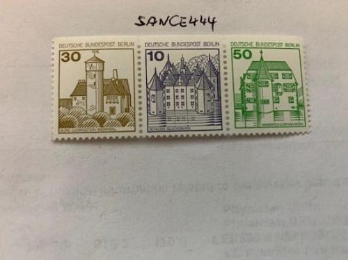 Berlin Castle 30+10+50p top imperf. strip mnh 1980