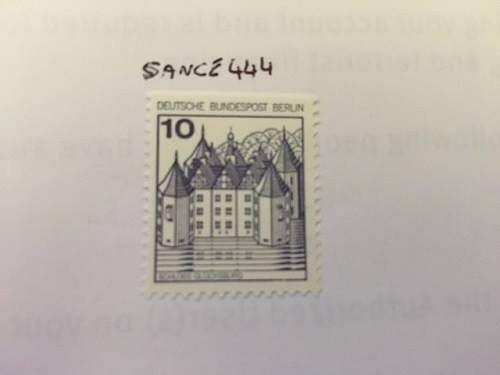 Berlin Castle 10p top imperf. mnh 1977 stamps