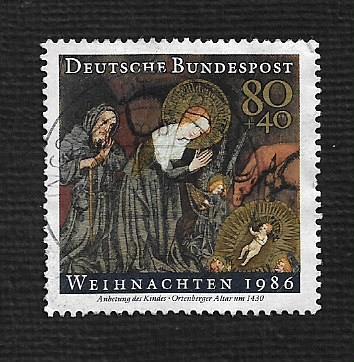 German Used Scott #B651 Catalog Value $1.15