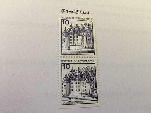 Berlin Castle 10p bottom imperf. mnh 1977 stamps