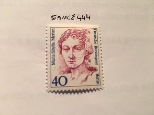 Berlin Famous women M.S. Merian naturalist mnh 1987 stamps