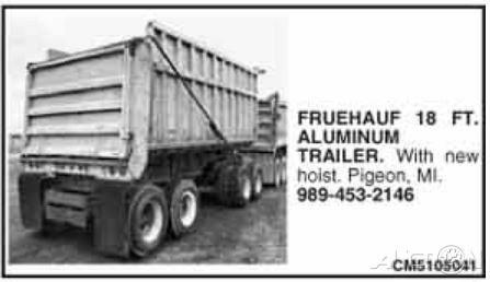 1970 Fruehauf 18 Foot Aluminum Pup Trailer