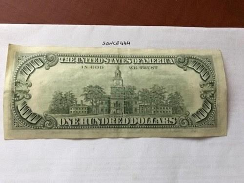 United States Franklin $100.00 banknote 1981