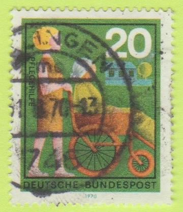 [GE1024] Germany Sc. no. 1024 (1970) Used