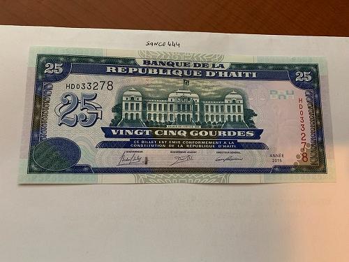 Haiti 25 gourdes uncirc. banknote 2015 #2
