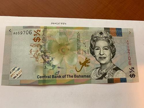 Bahamas 1/2 dollar uncirc. banknote 2019