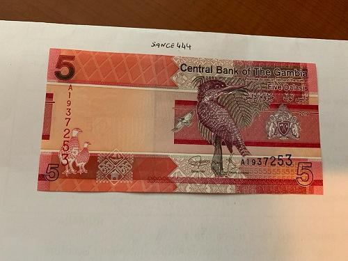 Gambia 5 dalasis uncirc. banknote 2019