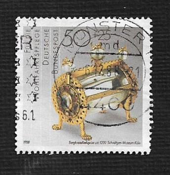 German Used Scott #B670 Catalog Value $.55