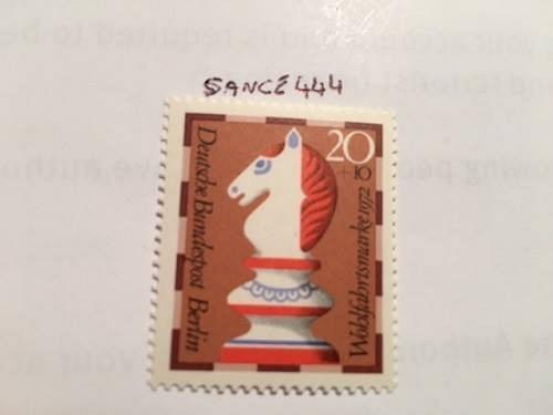Berlin Welfare Chess 20+10p mnh 1972 stamps