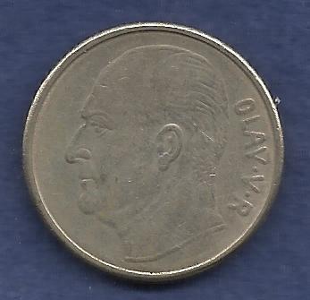 NORWAY 1 Krone 1968 Coin Horse - Olav V