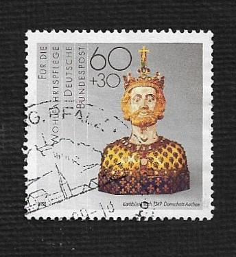 German Used Scott #B671 Catalog Value $.80