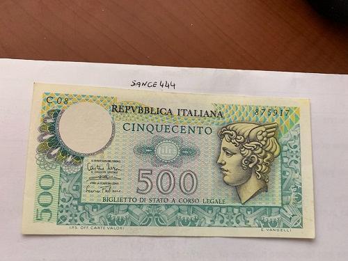 Italy Mercurio 500 lire uncirc. banknote 1974 #9
