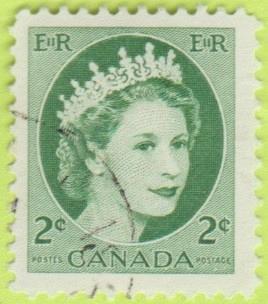 [CA0338] Canada Sc. no. 338 (1954-1961) Used