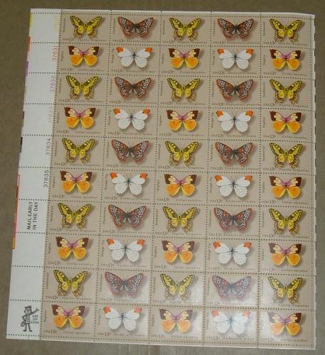 US, Scott# 1712-1715, thirteen cent Butterflies sheet of 50 stamps (0103)