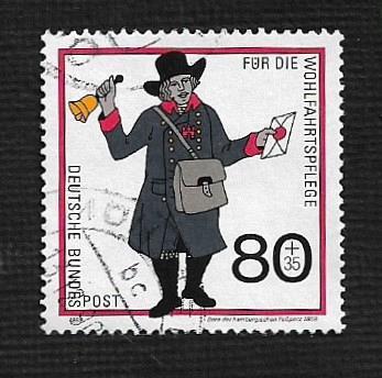German Used Scott #B683 Catalog Value $1.30