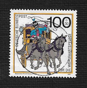 German Used Scott #B684 Catalog Value $2.10