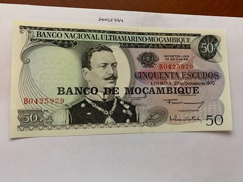 Mozambique 50 escudos banknote 1970 #2