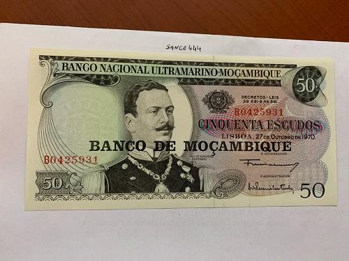 Mozambique 50 escudos banknote 1970 #4