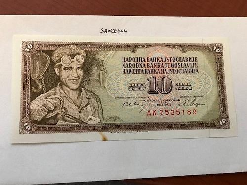 Yugoslavia Jugoslavia 10 dinara uncirc. banknote 1968